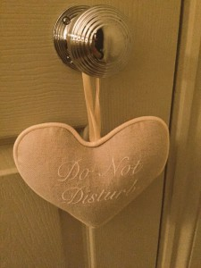 Do Not Disturb sign at The Bingham, Richmond