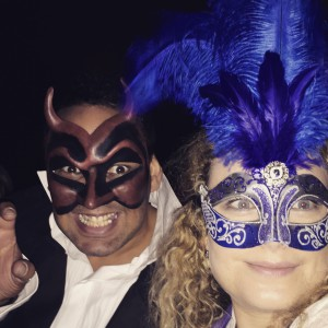 Scott and me at the Labyrinth Masked Ball