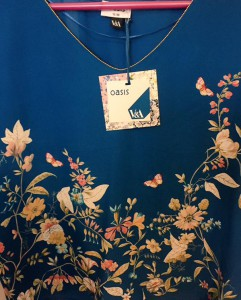 Lovely blue top from V and A and Oasis collaboration