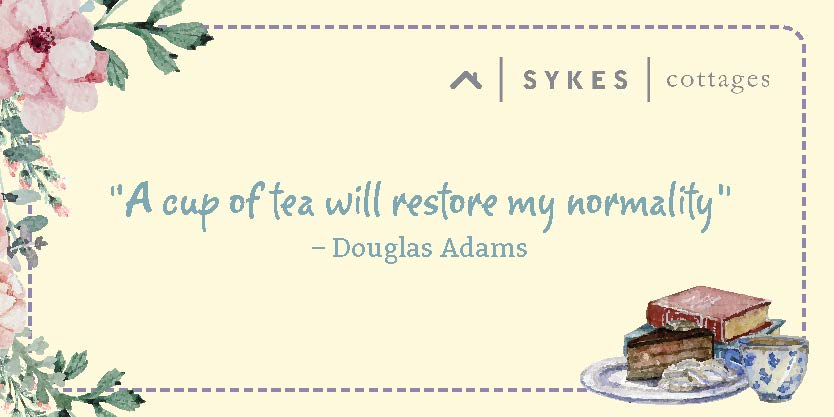 Douglas Adams quoted about the restorative power of tea
