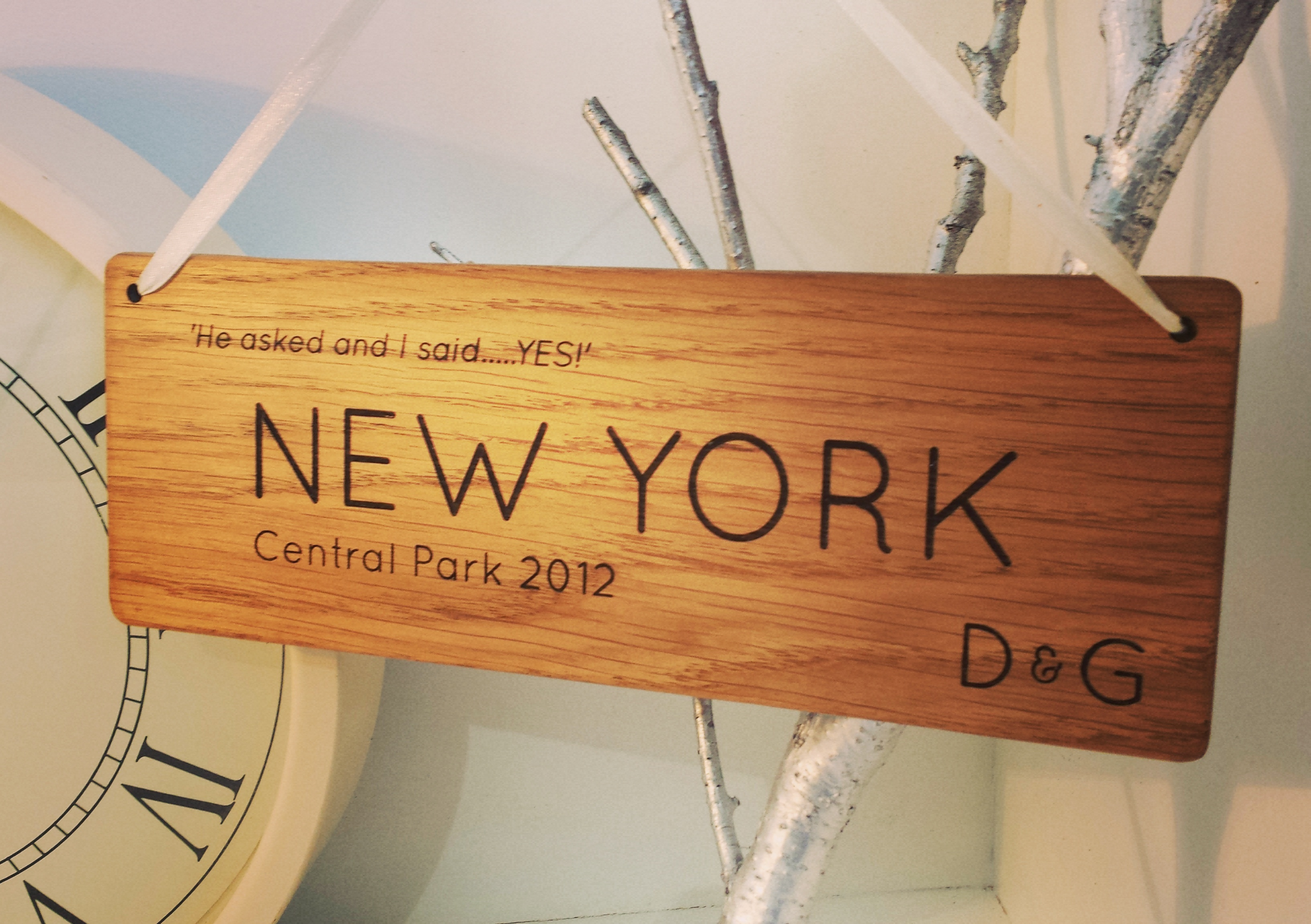 New York plaque from Individually Inspired