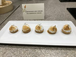 Lemongrass and ginger tea meringue choux