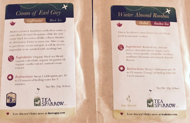 Winter teas from Tea Sparrow