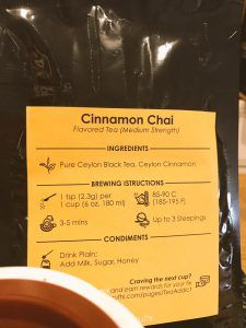Cinnamon Chai from Teakruthi