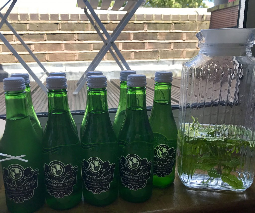 Green Lady sparkling tea drink